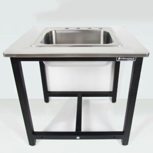 stainless steel countertops with lab sink