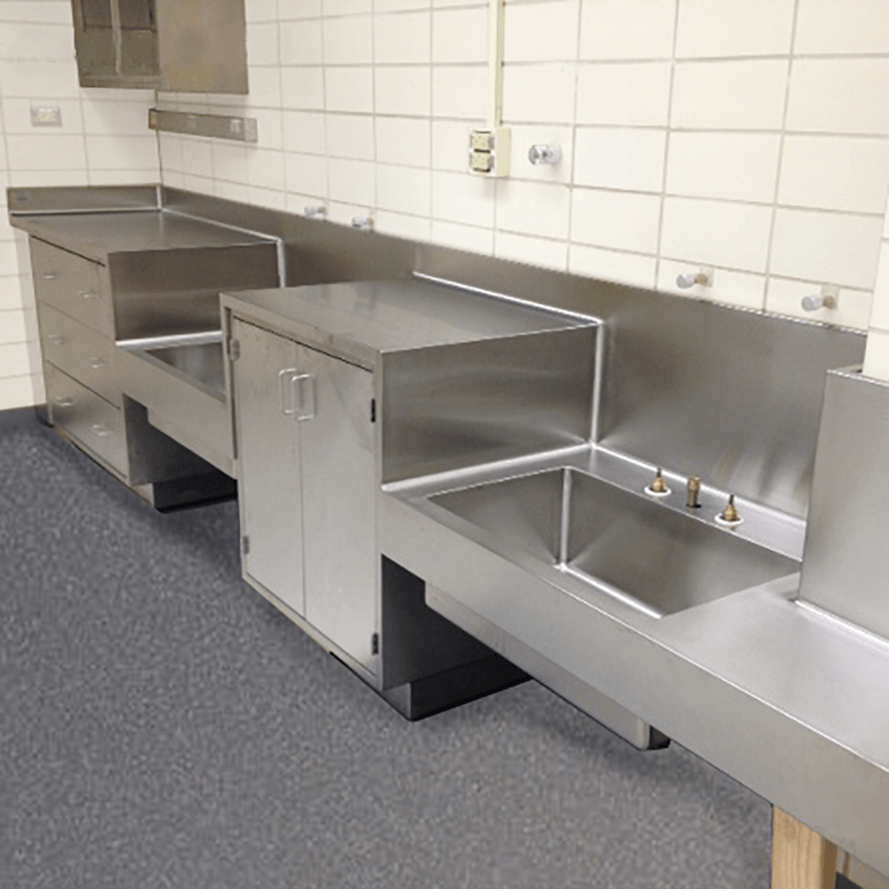 stainless steel countertops laboratory
