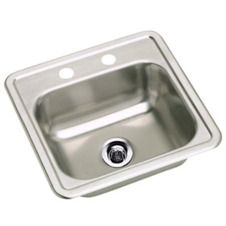 stainless steel 2 hole lab sink