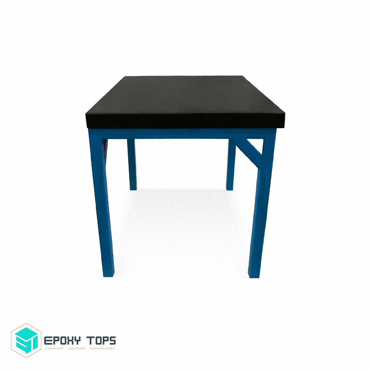 Chemical Resistant Black Epoxy Workbench