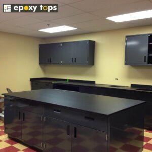 upper cabinets, epoxy casework