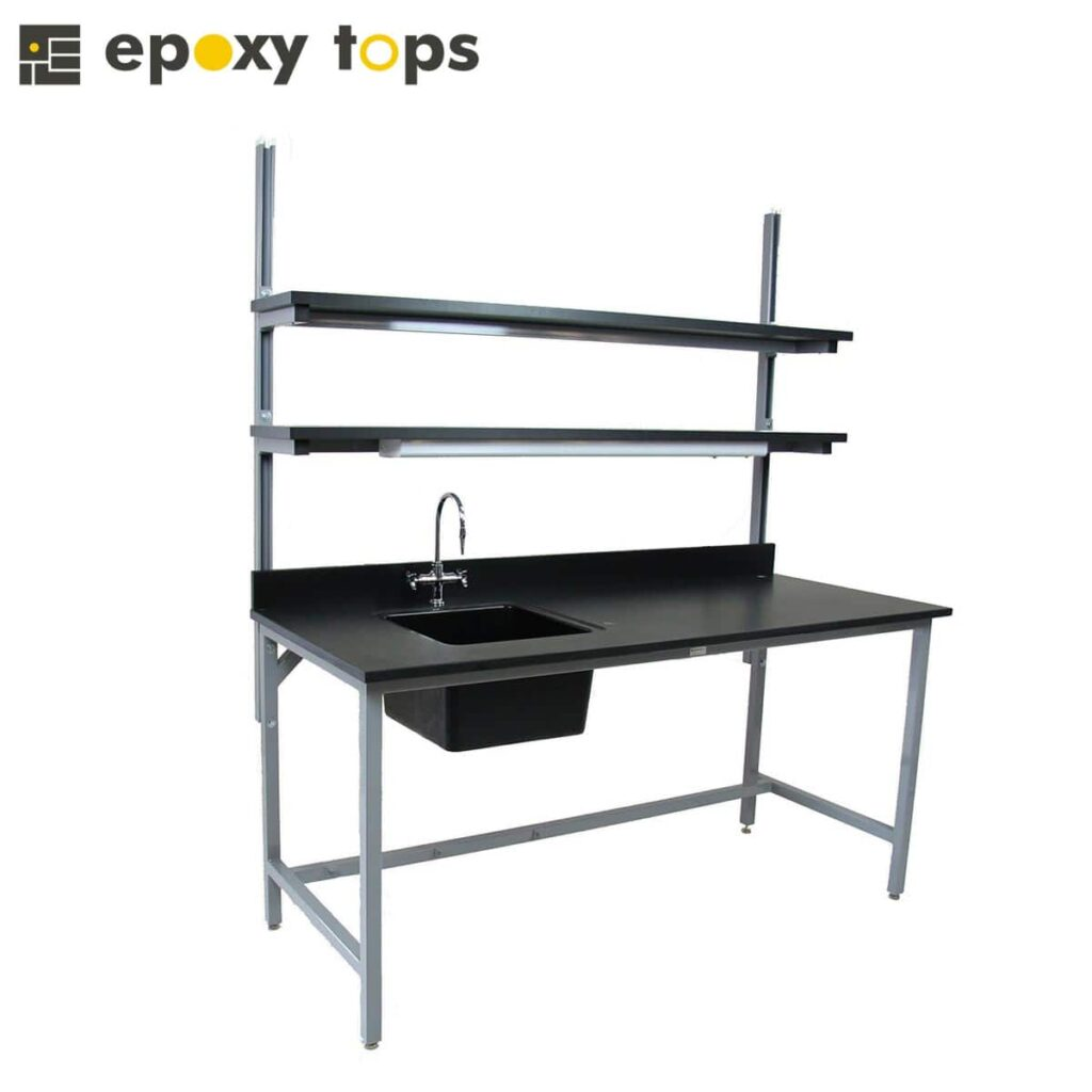 epoxy workbench with sink included