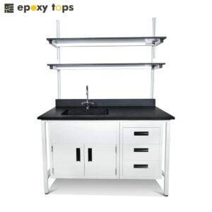 epoxy workbench with sink