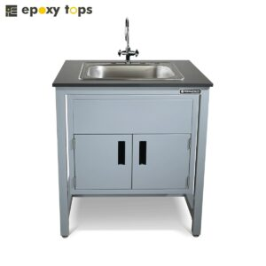 lab sink with cabinets