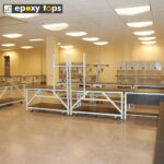 phenolic lab workbenches with cabinets