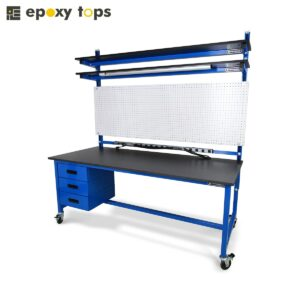 mobile workbench with pegboard
